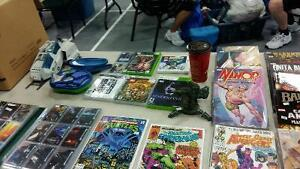 comics, trading cards, dvds and more at the hillhurst flea marke