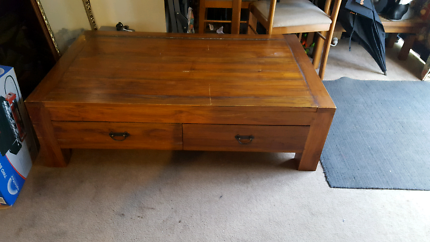Solid 4 draw coffee table