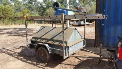 6 x 4 registered tradies trailer packed with tools