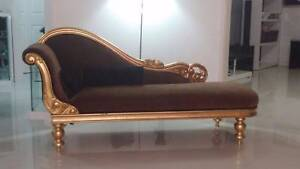 GOLD LEAF CHAISE LOUNGE Raby Campbelltown Area Preview