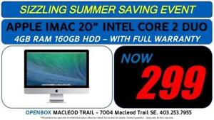 APPLE IMAC 20 INTEL CORE 2 DUO 4GB RAM 160GB HDD - With Full Warranty. OpenBox Macleod Sale!