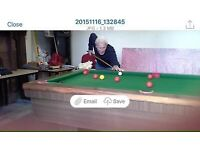 Pool Table 6 x 3 c/w balls and cues