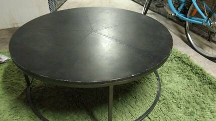 La Maison Round Steel Plated Coffee Table