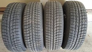 Set of 4 195/65/15 Michelin winter 70% tread