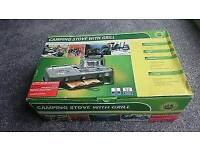 Camping gas double stove and grill