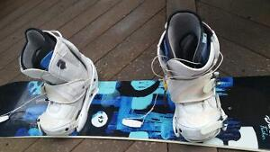 Burton board, boots and bindings.