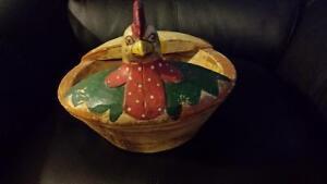 Wooden Chicken Bowl Peterborough Peterborough Area image 1
