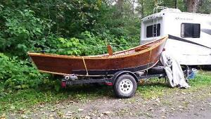 Drift boat with trailer
