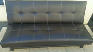 Dark Brown Leather Lounge & Sofa Hurstville Hurstville Area Preview