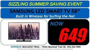 "Samsung 58"" FULL HD SMART LED TV - WITH 1 YEAR WARRANTY"