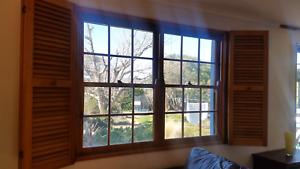 Cedar window with shutters Duffy Weston Creek Preview