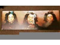 Bob Marley Canvas wall Art Picture Print 90 x 30cm
