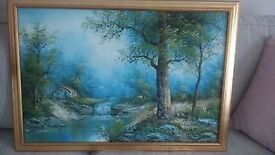 large country woodland oil painting