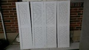 """louvered window shutters 55""""X14.5"""""""