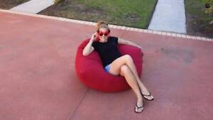 Vibrant Red Beanbag, Sofa, Kids Room, EXCELLENT COND.  Bean Bag Yeronga Brisbane South West Preview