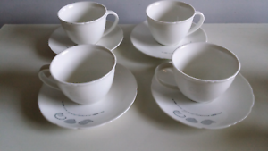 4 tea cups and saucers Lalor Park Blacktown Area Preview