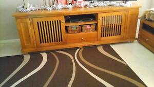 Solid timber tv cabinet and coffee table Engadine Sutherland Area Preview