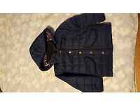 Mini Boden quilted and fleece lined navy blue jacket aged 2-3 years
