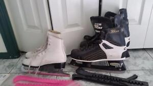 Mens CCM Pro3 -lite size 10 1/2 with guards