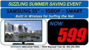 "SAMSUNG 55"" SMART 1080P HD TV With 1 Year Warranty. OpenBox Macleod Sale!"