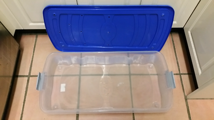 Large storage box with  air holes.