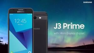 """Samsung Galaxy J3 Prime-Brand New,Unlocked@169.99$ w/Warranty""""We are 3 STORES in GTA"""" CALL or TEXT 4167229406"""