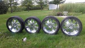 24 inch mags with tires - MUST SELL