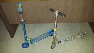 Scooters-. small and large  for 5/6 and 7/8