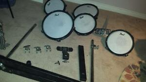 PEARL practice pads, used condition + misc kick pedal