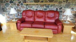 Genuine  leather  lazyboy furniture  set