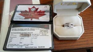 1 lady's pure white gold engagement ring set. price OBO