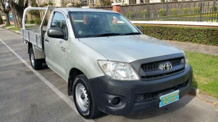 2009 Toyota Hilux TGN16R 08 Upgrade Workmate Silver 5 Speed Manual Cab Chassis