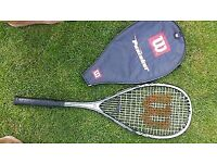 WILSON PUNISHER TITANIUM Squash Racket Racquet with cover