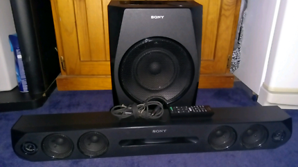 260W, 2.1 channel Sony Soundbar + Subwoofer + remote + opt. cable