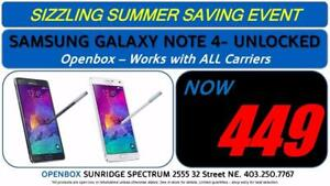 Samsung Galaxy Note 4 - 32GB - Openbox - Unlocked