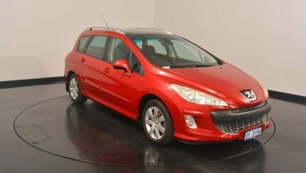2008 Peugeot 308 T7 XS Touring Red 4 Speed Sports Automatic Wagon Victoria Park Victoria Park Area Preview