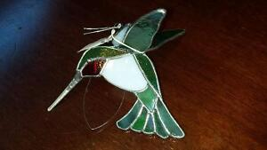 Brand New with tag - Hanging Stained Glass Hummingbird