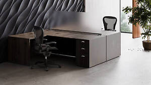 Freestanding Frosted Acrylic Desk Privacy Panels