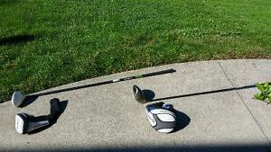 TaylorMade driver and 3-wood