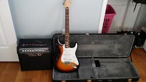 2007 MIM strat with line 6 spider 3 amp for trade