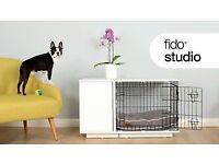 "Omlet White Fido Studio 36"" Dog Crate with wardrobe Brand new"