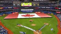 2 tickets Blue Jays playoff games Oct 8 & 9 Sec 525L infield!!
