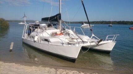 34ft custom Aluminium Sailing Cat