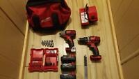 milwaukee m18 impact/drill kit