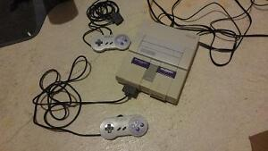 Super Nintendo (SNES) System w/ 2 Controllers