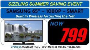 "SAMSUNG 65"" SMART 1080P TV UN65J6200 1 Year Warranty. OpenBox Macleod Sale!"