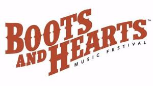 Boots and Hearts Music Festival GA 4-Day Wristbands, Single Day Wristbands, VIP Wristbands, Campsites! REGISTER WITH ME!