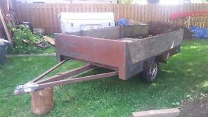 "home made utility trailer for sale  Box size 8'-0"" x 5'-4"""