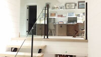 Custom Built Wrought Iron Interior Railings and Deck Railings