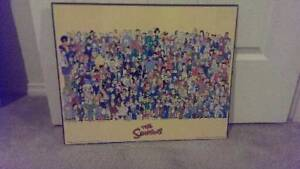 Block Mounted Simpsons Poster Enfield Golden Plains Preview